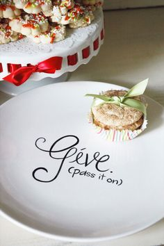 To give is to receive, right? Fill it up, pass it on, and spread the love with hopes that the next in line will do the same. Give- Pass It On Plate | Aedriel