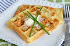 These Bacon Potato Cheese Waffles, from Trish at Mom on Timeout, are lifesavers on rushed school-day mornings. They're a quick and delicious breakfast option you can make fresh in 20 minutes or freeze ahead of time. Just pop them in the toaster, and breakfast is served in minutes!