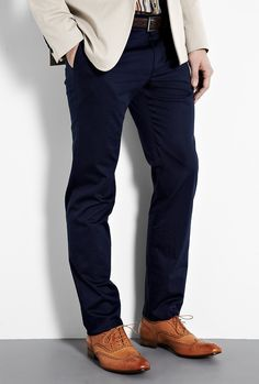 tan brogues work with the dark navy
