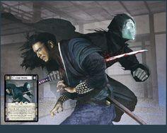 Goju Saido, otra de las ilustraciones que he realizado para la expansión A Line in the Sand del juego de cartas Legend of the Five Rings de Alderac Entertainment.