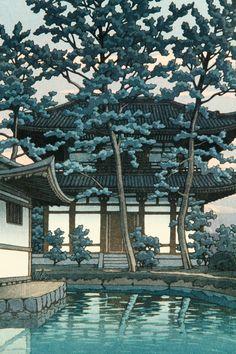 Auctions | 2434 - Japanese Woodblock Print, Temple at Nara | Kaminski Auctions