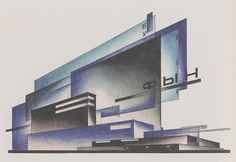 The speculative constructivism of Iakov Chernikhov's early architectural experiments, Bauhaus, Russian Constructivism, Constructivism Architecture, Model Sketch, Fluxus, Architecture Drawings, Architecture Layout, Conceptual Architecture, Cubism