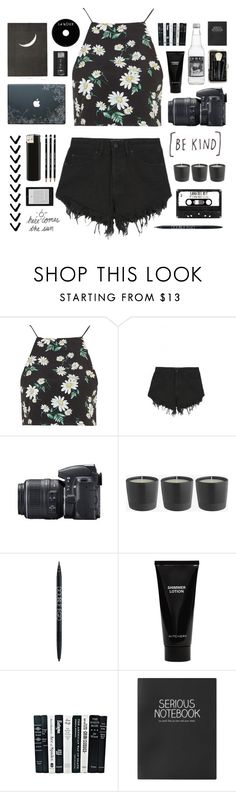 """""""be kind."""" by marvellouscreations ❤ liked on Polyvore featuring Topshop, Nana Judy, Nikon, Witchery and Bobbi Brown Cosmetics"""