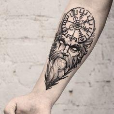 25 Vikings Tattoos With Nordic Symbols - Tattoo Style Viking Tattoo Sleeve, Norse Tattoo, Sleeve Tattoos, Celtic Tattoos, Viking Tattoo Design, Tattoo Designs Men, Lion Tattoo Design, Cool Tattoos For Guys, Tattoos For Women