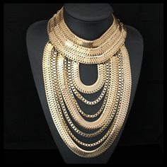 #fashion #accessories Chunky necklace G... has just been added to our catalog, follow the link http://modatendone.co.uk/products/chunky-necklace-gothic-gold-plated-multi-layer-statement-choker-bib-jewelry?utm_campaign=social_autopilot&utm_source=pin&utm_medium=pin