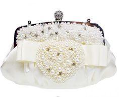 Bridal Purse Wedding Special Occasion Sequin Crystal Rhinestone Imitation Pearl Beading
