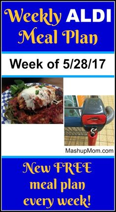 Here's youreasy weekly ALDI meal plan for the week of 5/28/17: Pick up everything on the shopping list below, then start cooking on Sunday. *** Subscribe to the weekly ALDI meal plans here *** Hope you find these free ALDI meal plans useful! Things to know about the ALDI meal plans A few notes before we get started: I try not to repeat main dish recipes more often than once a month, but you will see favorite easy recipes come  {Read More}