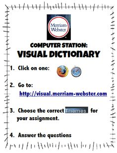 Are you looking for ways to add more non-fiction lessons to your day?  How about a visual dictionary center?  $5