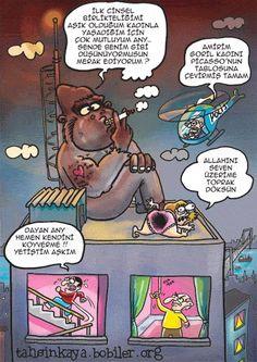 Karikatür komedi dram   Goril tecavüz !
