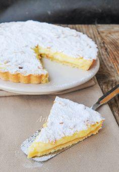 TORTA DELLA NONNA APERTA Gateau Cake, Torte Cake, Italian Cooking, Italian Recipes, Fruit Tart, Biscotti, Christmas Baking, Food Inspiration, Love Food