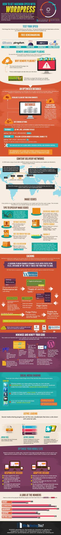 Speed Up Your WordPress Hosting Blog to get a higher Google rank #infographic