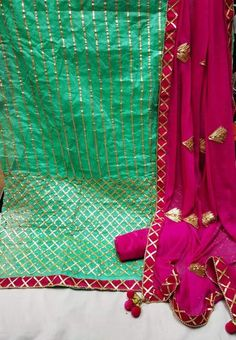 Cotton Unstitched Dress material from Stf Store Gota Patti Suits, Punjabi Suit Boutique, Plazzo Suits, Long Kurtis, Ethnic Gown, Work Suits, Punjabi Suits, Jumpsuit Dress, Trendy Fashion