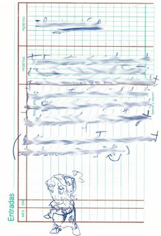 """Apunte: Garramantxo 127   Apunte  """"Garramantxo 127""""  Garabato 127  Bolígrafo sobre papel  153 x 105 cm  2004  Bilbao  apunte: garabato libro 2004-01 / 2004-06"""
