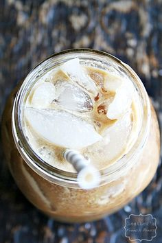 {cold brewed} Biscoff Iced Latte - Heather's French Press