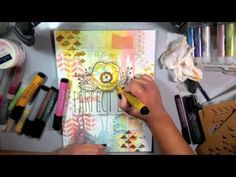 Faber Castell Design Memory Craft Mixed Media with Gelatos Colors - YouTube