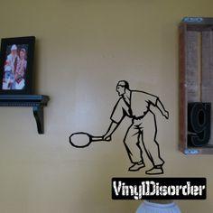 Tennis Wall Decal - Vinyl Decal - Car Decal - DC 006