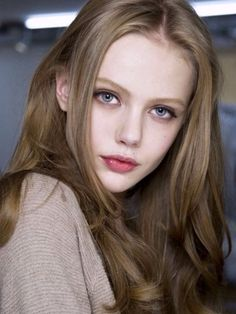 Frida Gustavsson at the Versace fall 2010 show. http://beautyeditor.ca/2015/04/16/best-hair-colour-for-pale-skin-and-blue-eyes
