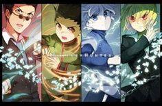 "Leorio, Gon, Killua y Kurapica del anime ""Hunter x Hunter"" / FanArt"