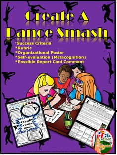 This dance resource is great for grade 6, 7 and 8.  This lesson would typically take a minimum of 4-6 classes once per week.  The hook is an engaging You Tube video to get students thinking about various genres and steps of dance.  The web is used for this inquiry.  Included please find:  teacher notes, learning criteria , organization poster, self-evaluation and suggestions for the report card comment. Have fun with this Create a Dance Smash!                                Artsy