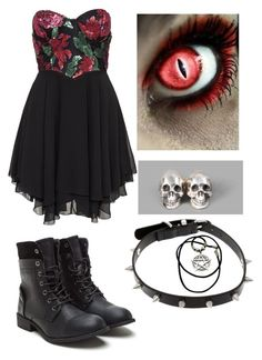 """Untitled #196"" by bleeding-neverland ❤ liked on Polyvore featuring Te Amo and Ugo Cacciatori"