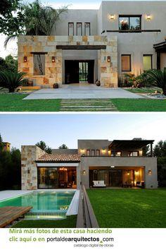 Modern Exterior House Designs, Modern House Facades, Dream House Exterior, Modern House Design, Exterior Design, Modern Architecture, House Outside Design, House Front Design, My House Plans