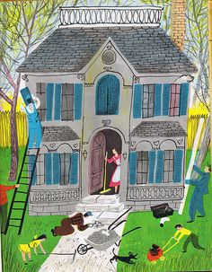 """ House Of Four Seasons "" Illustrated by Roger Duvoisin"