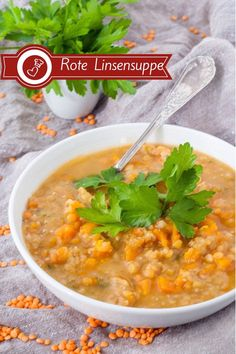 Red lentil soup recipe - home cooking with lots of love! Lentil Recipes, Soup Recipes, Vegetarian Recipes, Amazing Food Photography, Red Lentil Soup, Soup Kitchen, One Pot Meals, Lentils, Good Food