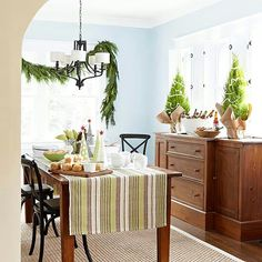Beautiful dining decor for Christmas
