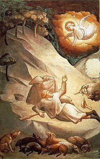 Taddeo Gaddi (h. 1300-1366); pintor y arquitecto italiano del estilo italo-gótico. Como pintor, creó altares y murales y ante todo destaca como alumno y seguidor de Giotto. Como arquitecto, se le atribuye el diseño del Ponte Vecchio.