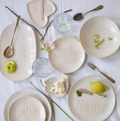 Ceramic dishes from MayLuk, Brooklyn.