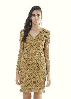 Vestido Dourado Decote V