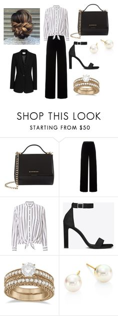 """""""Untitled #108"""" by andrejafrukacz on Polyvore featuring Givenchy, T By Alexander Wang, Equipment, Yves Saint Laurent, Allurez, Majorica and Reiss"""