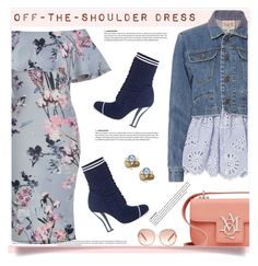 """""""Spring trend :  Off-the-shoulder dress"""" by anne-irene ❤ liked on Polyvore featuring Sea, New York, Fendi, Chloé, Bounkit and Alexander McQueen"""