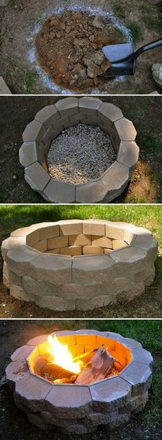 DIY Fire Pit on a budget   ...............Follow DIY Fun Ideas at www.facebook.com/... for tons more great projects!