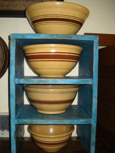 YellowWare Mixing Bowls  Yellow Ware Pottery Antique Kitchenware