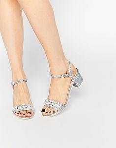 Image 1 ofASOS HIJACK Embellished Glitter Heeled Sandals