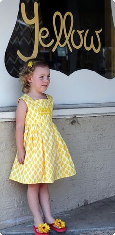 Yellow Vintage Natalie Dress