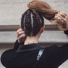 """302 Likes, 2 Comments - Miaa∞ (@thehairlair_) on Instagram: """"Braided bunzz…"""""""