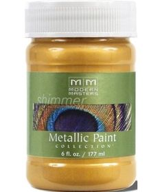 Handy Finds for Painting Projects | Jessica of Decor Adventures shares her fave paint products on the Houzz blog and includes the Metallic Paint Collection by Modern Masters!