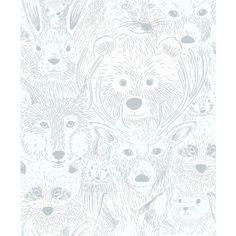 Area Vildmark x m Vit Non-woven - Tapeter - Rusta Nursery Wallpaper, Wallpaper Decor, Large Print Wallpaper, Instagram Frame Template, Floral Nursery, Inspiration Wall, Kids Prints, Baby Room Decor, Surface Pattern Design