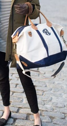 Chic monogrammed satchel