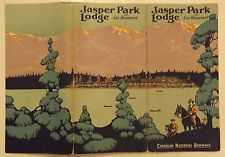 1924 CANADIAN NATIONAL RAILWAYS JASPER PARK LODGE BROCHURE