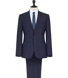 Mens Navy Modern Fit Suit - Reiss Silvers