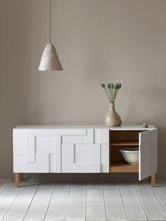 Guarda-louça de madeira com gavetas ALBA | Guarda-louça - PINCH