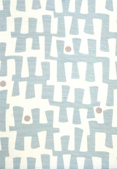 Berbeck Fabric Linen Union Berbeck linen fabric is a fresh contemporary design with blue organic shapes printed on a natural cloth.