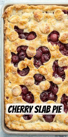 Cherry Slab Pie recipe from RecipeGirl.com #cherry #slab #pie #recipe #RecipeGirl Fun Easy Recipes, Popular Recipes, Pie Recipes, Easy Meals, Cooking Recipes, Healthy Recipes, Summer Recipes, Delicious Recipes, Dessert Recipes