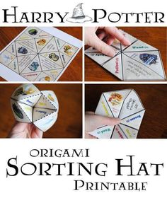 A fun alternative to a Hogwarts sorting hat, this Harry Potter Origami Sorting Hat will divide your guests into Ravenclaw, Hufflepuff, Slytherin, or Gryffindor.
