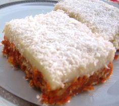 Carrot Dessert Recipe Source by aynuraydi Easy Cake Recipes, My Recipes, Low Carb Recipes, Recipies, Mousse Au Chocolat Torte, Pesto Pasta, Turkish Recipes, Frozen Yogurt, Dessert Bars