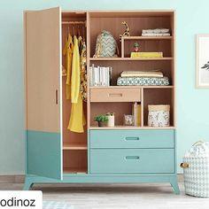 """175 curtidas, 2 comentários - Quartos e Brinquedotecas (@uebaa_design) no Instagram: """"Que charme esse armário!  Amo quando, no projeto, é possível propor um armário mais """"decorativo"""".…"""""""