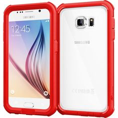 RooCase - Glacier Tough Hybrid Case for Samsung Galaxy S6 - Red, RC-SAM-S6-GT-RD